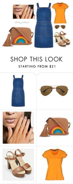 """""""Untitled #41"""" by sousou2578 on Polyvore featuring River Island, Ray-Ban, Anya Hindmarch, JustFab and Armani Jeans"""