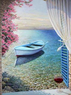 A poem of the sea. Oil on canvas. Miki Karni.