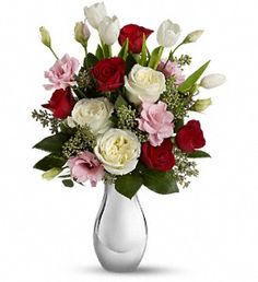 Teleflora's Love Forever Bouquet with Red Roses in Lake Orion MI, Amazing Petals Florist