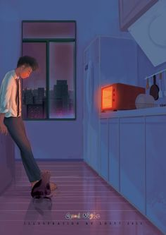 Enjoying living in the city alone. Anime Gifs, Anime Art, Good Night Gif, Sad Art, Anime Scenery, Cute Illustration, Aesthetic Art, Pixel Art, Noragami
