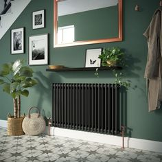 House Entrance Hallway Grey Walls 28 Ideas - New ideas Wall Radiators, Best Radiators, Flat Panel Radiators, Black Radiators, Home Design, Living Room Furniture, Living Room Decor, Dining Rooms, Hall