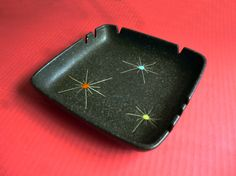 1950's Atomic Ashtray with Cosmic Stars by fifisfinds on Etsy