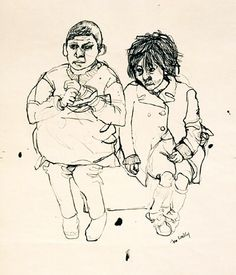 Joan Kathleen Harding Eardley: Artist: the artistic documenter of Glasgow's urban urchins Art Drawings, Artists, Portrait, Painting, Bag, Artist, Men Portrait, Painting Art, Paintings