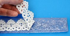 How to make lace with silicone molds