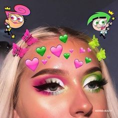 Are you looking for inspiration for your Halloween make-up? Navigate here for cute Halloween makeup looks. Makeup Eye Looks, Eye Makeup Art, Colorful Eye Makeup, Crazy Makeup, Cute Makeup, Eyeshadow Makeup, Makeup Style, Beauty Makeup, Gorgeous Makeup