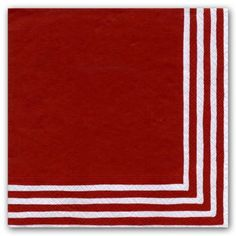Red Stripe Border Luncheon Napkins | PaperStyle