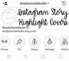 Set of 15 Instagram Story Highlight Cover Icon Template for