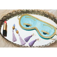 Audrey Hepburn-the Breakfast at Tiffany's Holly Golightly Sleep Eye Mask and Earplugs/Earrings Set Gifts for Her