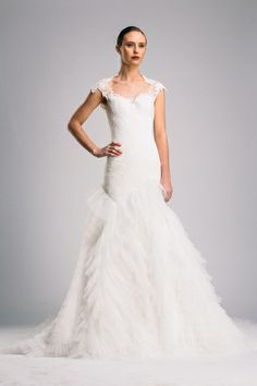 Suzanne Harward haute couture lace gown