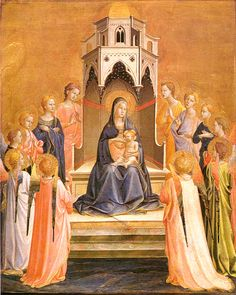 "SECRET (GOD): Paintings ""Mary and Jesus"" - Fra Angelico"