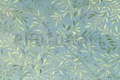 Leaves on Blue - Wall Mural & Photo Wallpaper - Photowall