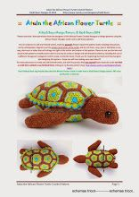 Album Archive - Heidi Bears - Atuin the African Flower Turtle Crochet Pattern