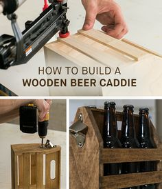 Whether you're headed to a party or your backyard, a wooden beer caddie is a fun way to carry your favorite beer. Building one is a satisfying afternoon project that's great for both new and experienced DIYers alike. Download the DIYZ app today for this and other great projects.
