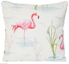 Flamingo Cushion Cover Pink Throw Pillow Case Designer Printed Birds Cotton Fabric  White Green Blue