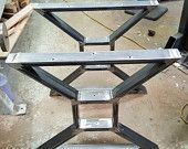 "Custom order for Penko - Pick up - Modern, Dining Table ""X"" Legs, Heavy Duty Metal Legs, Industrial Legs from 3"" x 1"" Tubing"