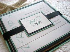 Tiffany's at the Beach Invitaiton Set by This & That Creations.