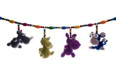 Funny animal chain for your pram