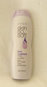 New AVON Skin So Soft Firm and Restore Body Lotion 11.8 fl. oz. Factory Sealed