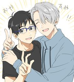 Yuuri and Victor - Yuri!!! on Ice by 夏子 on pixiv
