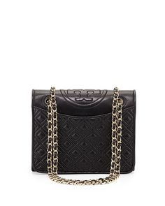Fleming+Quilted+Patent+Saffiano+Leather+Flap+Bag,+Black+by+Tory+Burch+at+Neiman+Marcus.
