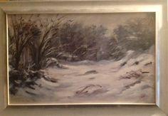 Nevicata, olio su tela 50x80