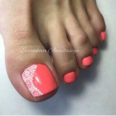 Pretty Pedicures, Pretty Toe Nails, Cute Toe Nails, Dope Nails, Toe Nail Art, Cute Pedicure Designs, Pedicure Colors, Pedicure Nails, Nail Colors