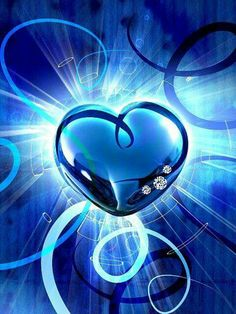 a fancy heart~~in delicate blue~~your love for me~~and my love for you~~