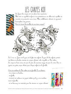 pdf - Page Japan For Kids, Carpe Koi, Art Japonais, Cycle 3, Japan Art, Japanese Language, Art Plastique, Art Education, Crafts For Kids