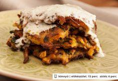 Zöldségtócsni fokhagymás joghurttal Vegan Vegetarian, Vegetarian Recipes, Paleo, Cheesesteak, Pulled Pork, Vegetable Recipes, My Recipes, Lasagna, Menu