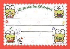 Kawaii memo paper Keroppi - Sanrio