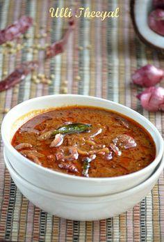 Ulli Theeyal/Shallots in Tamarind and Coconut Sauce ~ Nalini's Kitchen