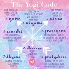 The Yogi Code | The 8 Limbs of Yoga | Bindi Yoga | www.bindiyoga.ca