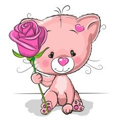 Such an adorable Kitten with Rose <3