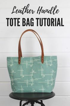 Leather Handle tote bag - how to sew your own bag that nobody will guess you made yourself. Its that good! #sewing #diytotebag #sewingproject #easysewing #easysewingproject
