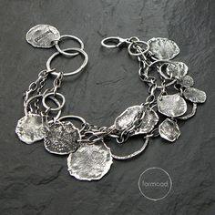 100% Ag - bracelet, raw sterling silver bracelet