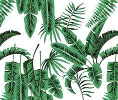 Banana Palms - Amazon textiles and wallpaper print