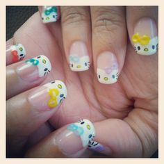 hello kitty nail art. Instagram photo by @ nail28tsenwei via ink361.com