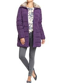 Women's Frost Free Down-Fill Coats Long Jackets, Winter Jackets, Purple Reign, Old Navy Women, Maternity Wear, Cool Gifts, Blazer Jacket, Fashion Models, Man Shop