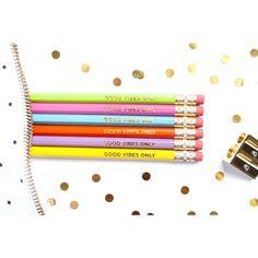 Taylor Elliott Designs 6 Pencil Set - Good Vibes Only