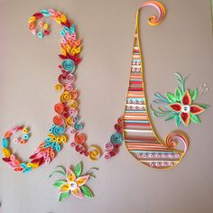 """Quilled letters- """"M"""" by PractiQuills on Etsy https://www.etsy.com/listing/242499338/quilled-letters-m"""