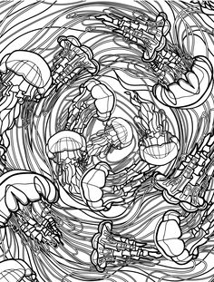 gunston coloring pages   free printable sea creatures adult coloring pages pic   My ...