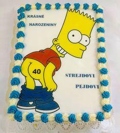 Bart Simpson, dort s jedlou fotkou, www.cukrovi-kuncovi.cz dětské a netradiční dorty pro všechny nebo si můžete přát něco jiného ? Co by to mělo být je jenom na Vás. www.cukrovi-kuncovi.cz/kontakt-prijem-objednavek Bart Simpson, Decorating Cakes