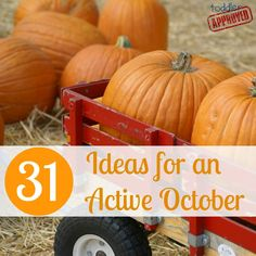 toddler approved~ 31 ideas for an active october. Halloween book countdown among others. Fall Crafts, Holiday Crafts, Holiday Fun, Crafts For Kids, Holiday Ideas, Autumn Ideas, Kids Diy, Autumn Fall, Diy Crafts