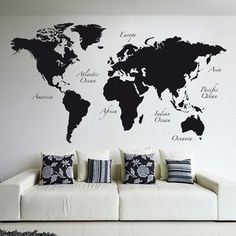 Classic world map wallpaper stylish map mural muralswallpaper classic world map wallpaper stylish map mural muralswallpaper pinterest feminine decor feminine and stylish gumiabroncs Gallery