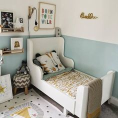 394 Likes, 5 Comments - Kids Decor Boy Toddler Bedroom, Toddler Room Decor, Big Boy Bedrooms, Toddler Rooms, Baby Bedroom, Baby Boy Rooms, Girls Bedroom, Ikea Childrens Bedroom, Young Boys Bedroom Ideas
