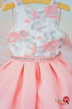 Vestido de Festa Petit Cherie Kids Bordado Prata