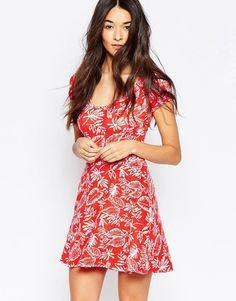 Club+L+Cross+Back+Skater+Dress+in+Mini+Floral+print