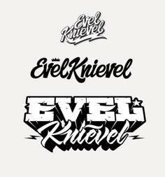 Evel Knievel Motorcycle Daredevil Calligraphy Lettering Licensed Adult T Shirt