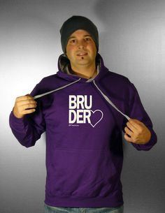 Pullover, Kapuzenpullover, Bruderherz lila - knopfgelb onlineshop