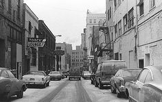 Buckham Alley, Flint, Michigan, circa 1977.